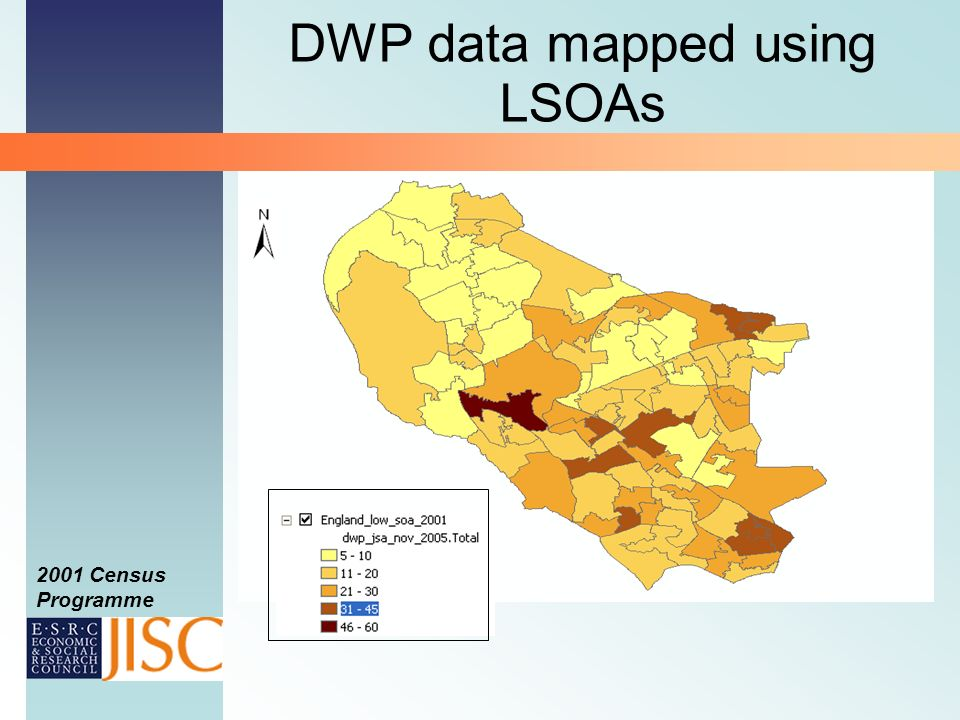2001 Census Programme DWP data mapped using LSOAs
