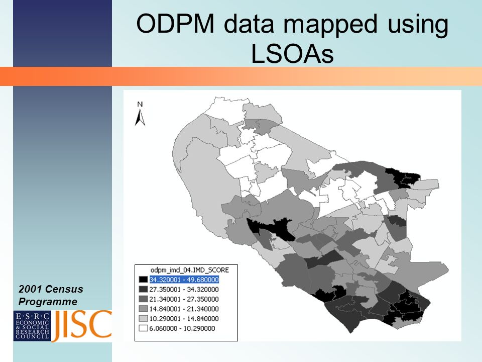 2001 Census Programme ODPM data mapped using LSOAs