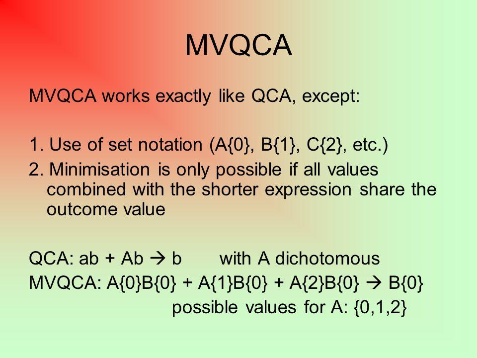MVQCA Solutions 1.a majority vote system 2. low GNP / cap.