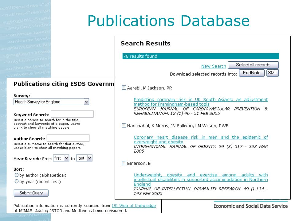 Publications Database