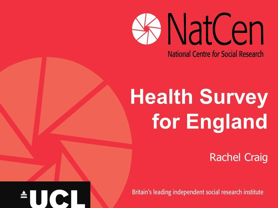 Health Survey for England Rachel Craig