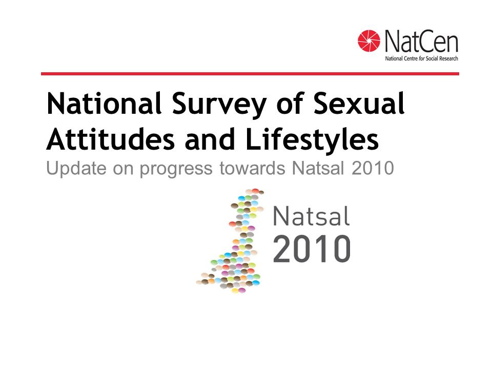 National Survey of Sexual Attitudes and Lifestyles Update on progress towards Natsal 2010