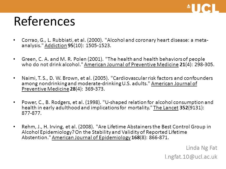 References Corrao, G., L.Rubbiati, et al. (2000).