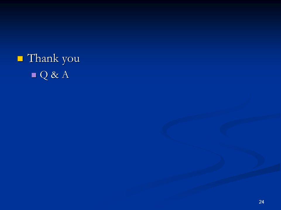 24 Thank you Thank you Q & A Q & A