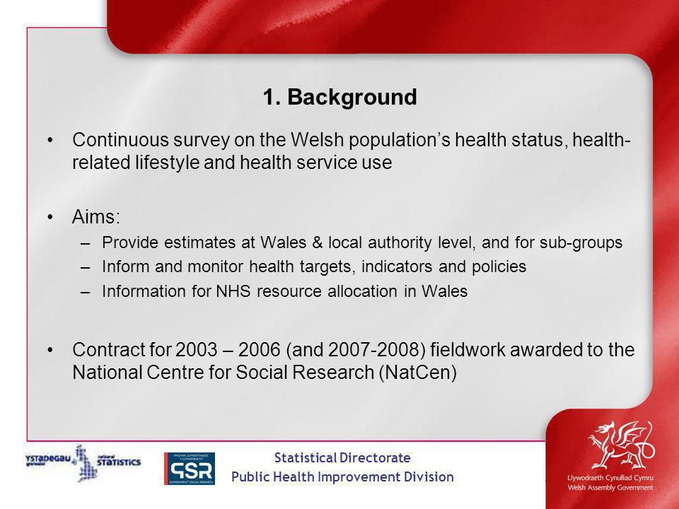 Statistical Directorate Public Health Improvement Division 1.