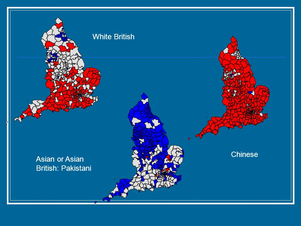 White British Asian or Asian British: Pakistani Chinese