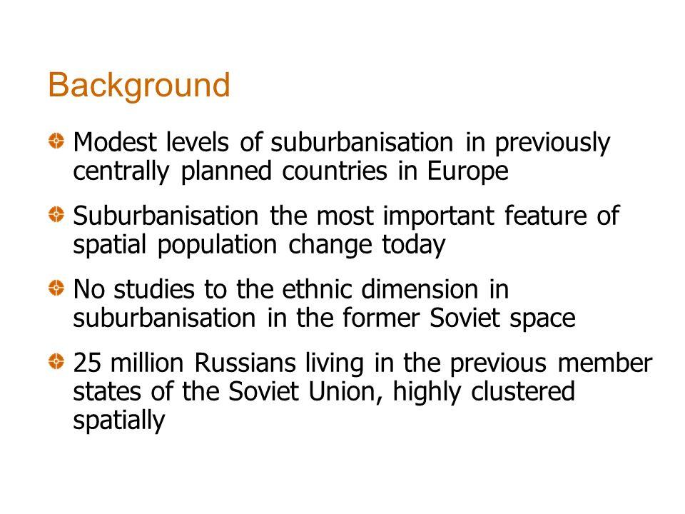 Literature review: suburbanisation of ethnic minorities