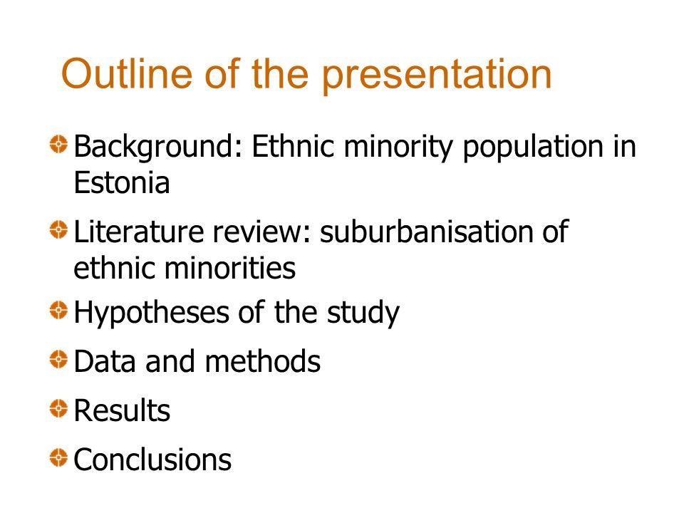 Background: Ethnic minority population in Estonia