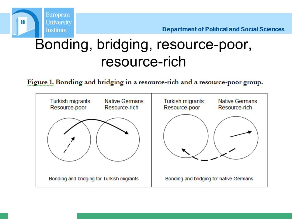 Department of Political and Social Sciences Bonding, bridging, resource-poor, resource-rich