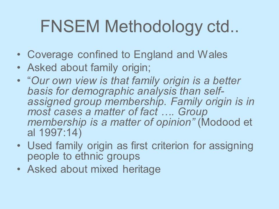 FNSEM Methodology ctd..