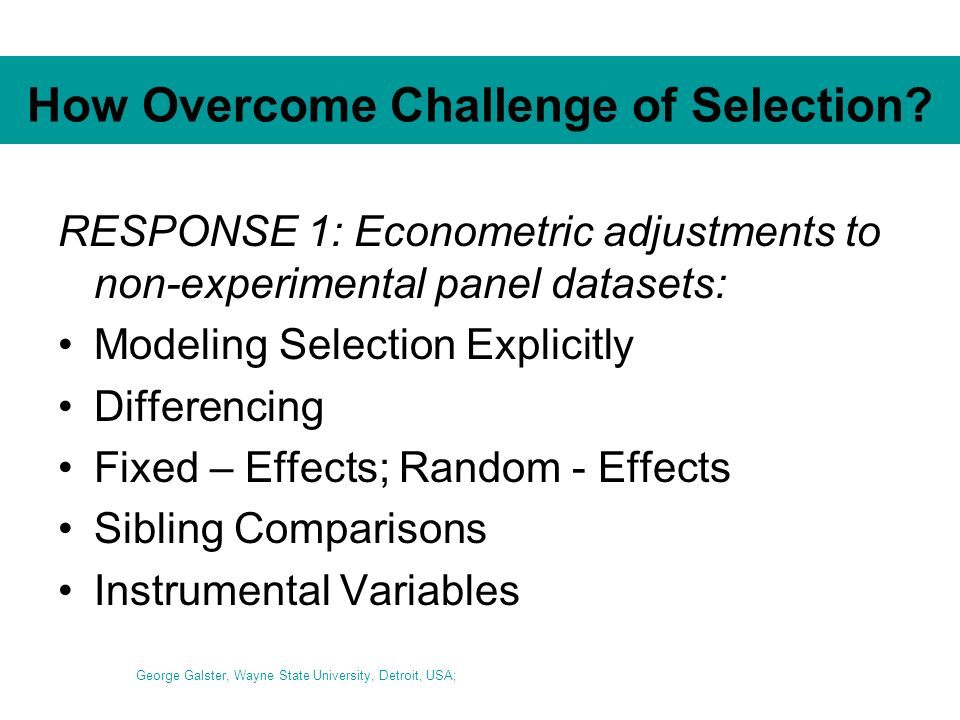 How Overcome Challenge of Selection.