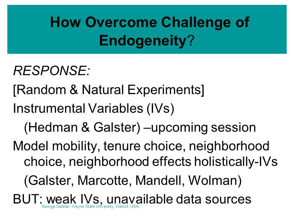How Overcome Challenge of Endogeneity.
