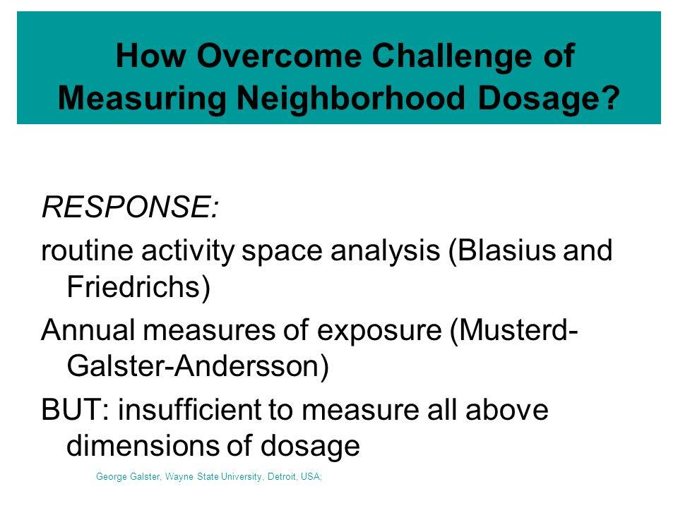 How Overcome Challenge of Measuring Neighborhood Dosage.