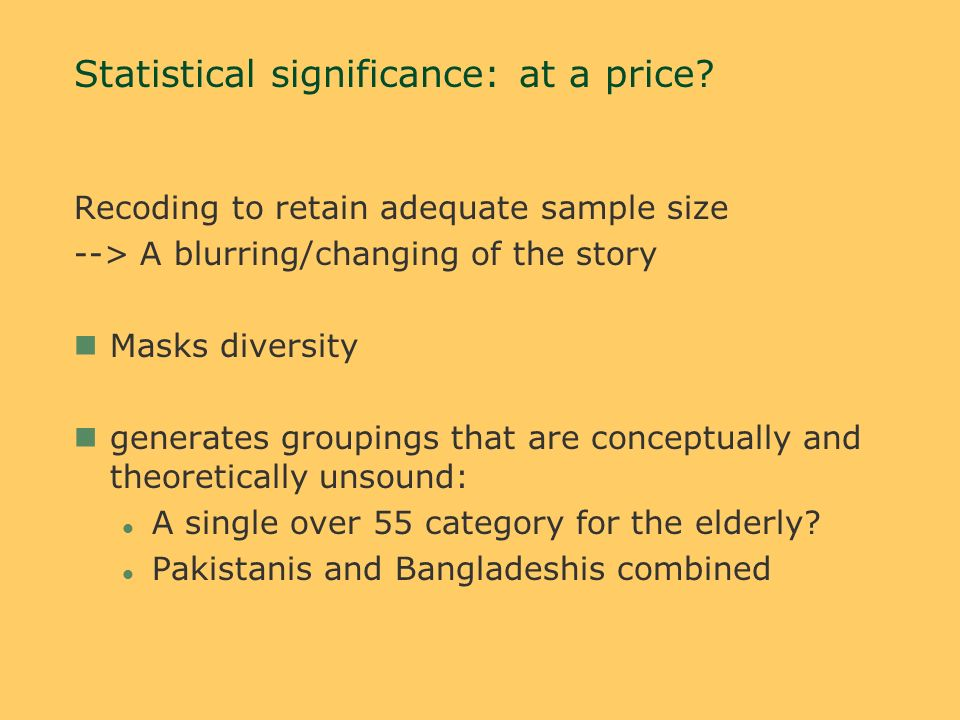 Statistical significance: at a price.