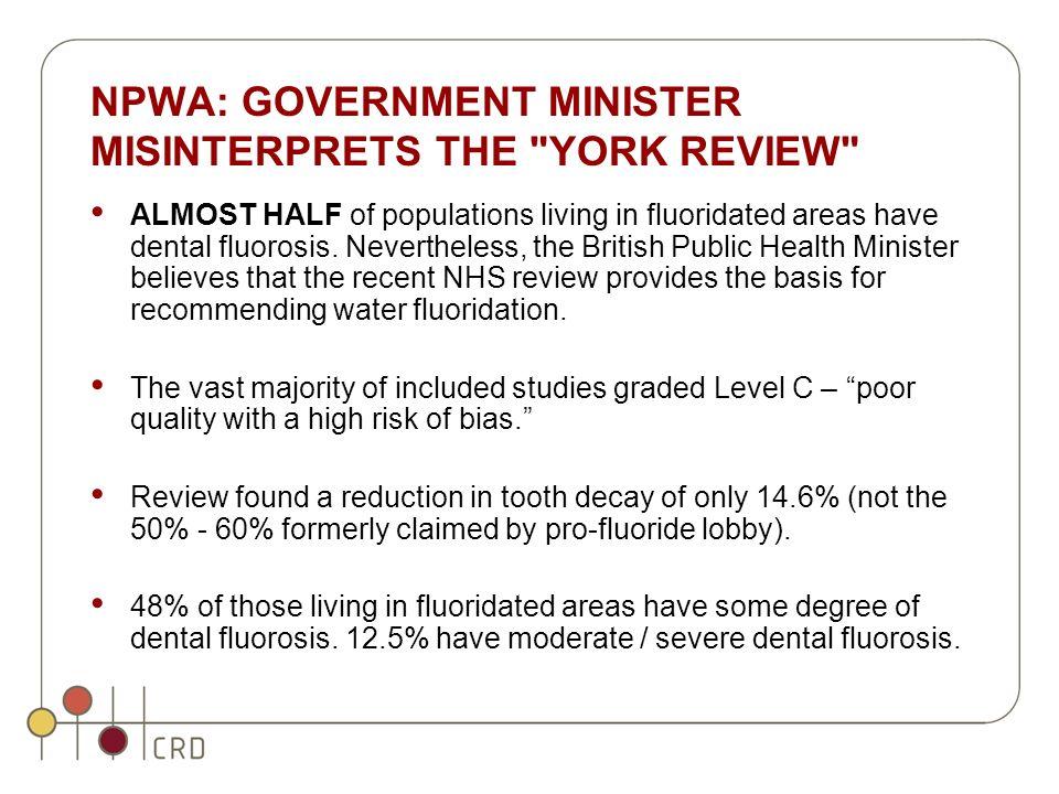 NPWA: GOVERNMENT MINISTER MISINTERPRETS THE
