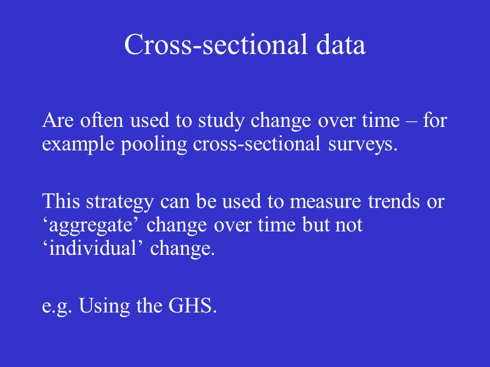 Conclusions (negative) Using longitudinal data Unique problems (e.g.