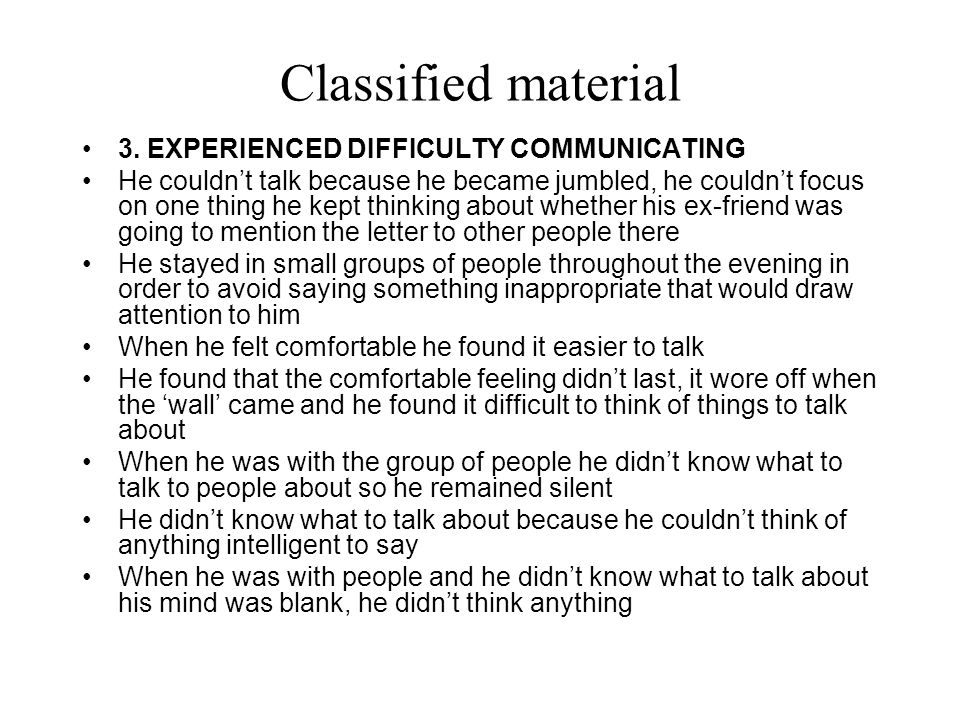 Classified material 3.