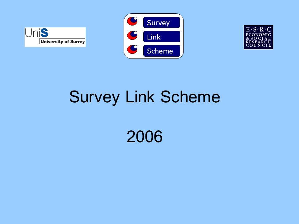Survey Link Scheme 2006 Survey Link Scheme