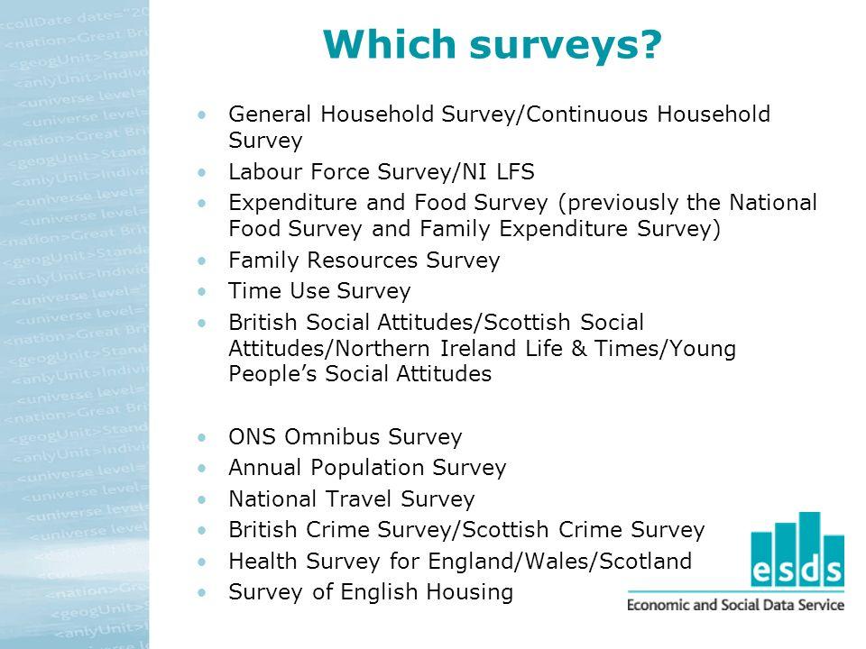 Which surveys.
