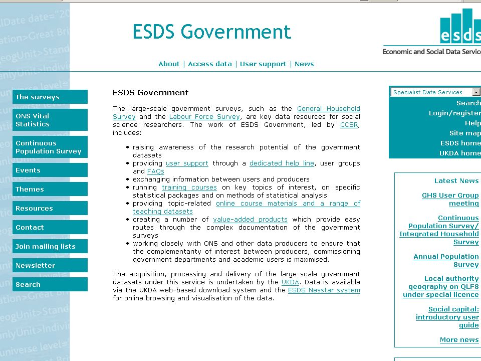 http://www.esds.ac.uk/government