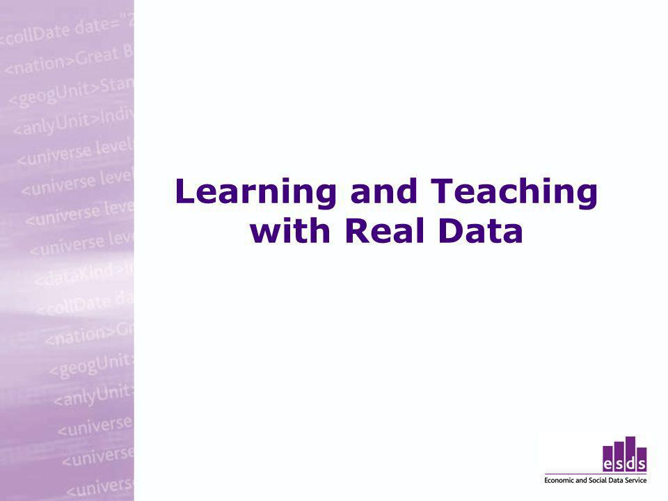 Learning and Teaching with Real Data