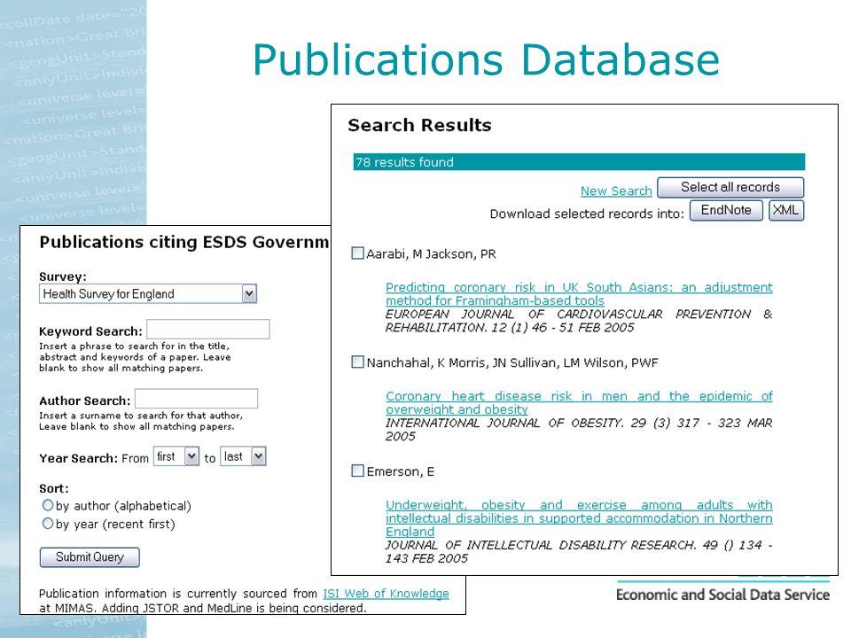 Publications Database