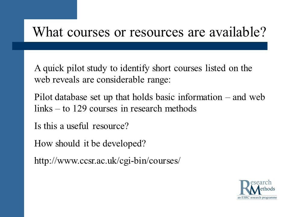 What courses or resources are available.