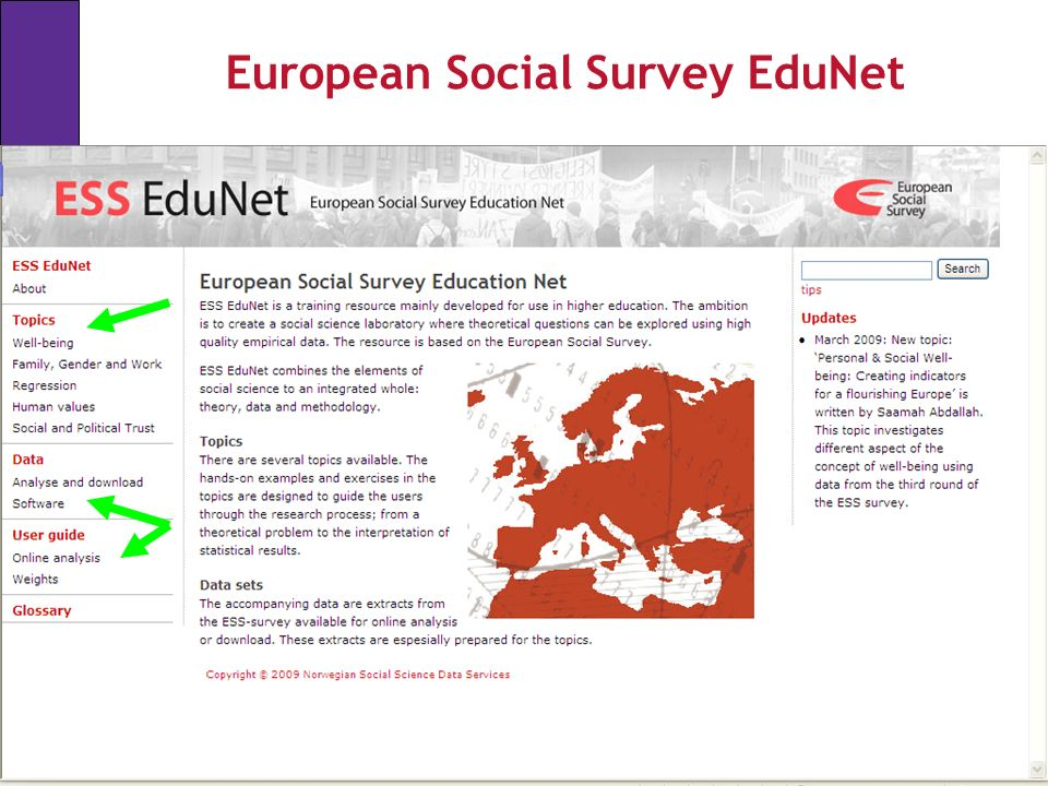 European Social Survey EduNet