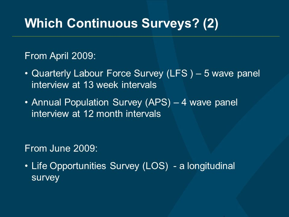 Which Continuous Surveys.