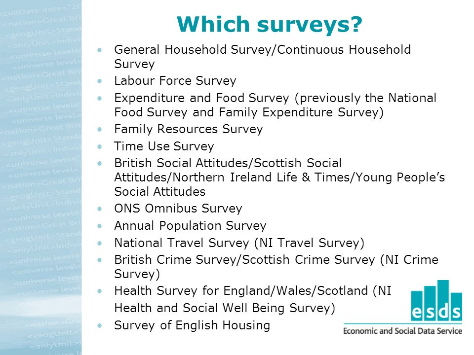 Which surveys.