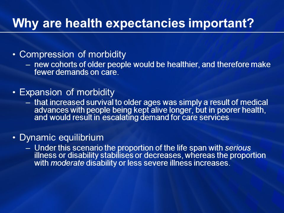Why are health expectancies important.