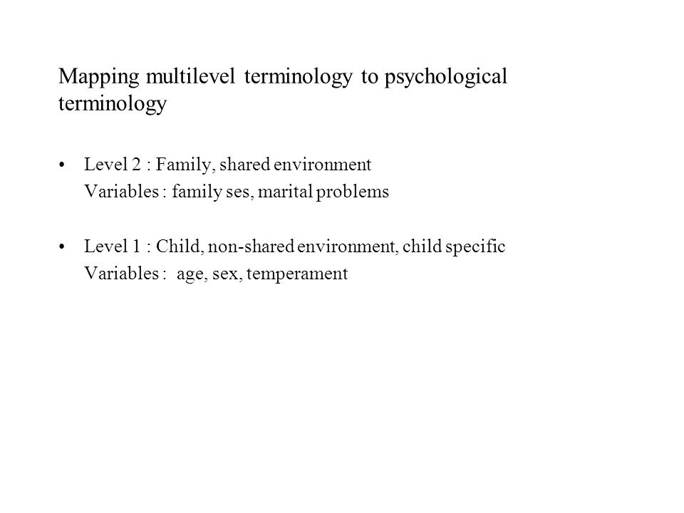 Background Recent studies in developmental psychology and behavioural genetics emphasise non-shared environment is much more important in explaining childrens adjustment than shared environment has led to a focus on non-shared environment.(Plomin et al, 1994; Turkheimer&Waldron, 2000) Has this meant that we have ignored the role of the shared family context both empirically and conceptually?