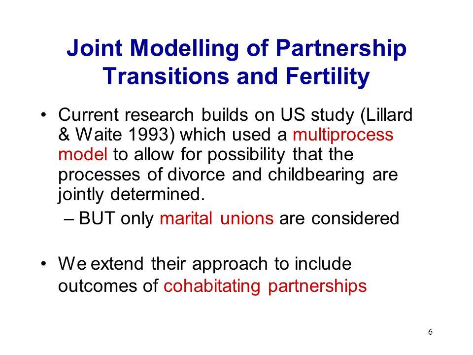 7 Methodology: Overview Use multilevel multistate event history model (Steele et al.