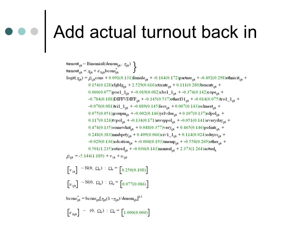 Add actual turnout back in