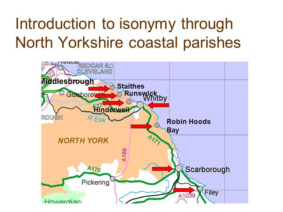 0 0.5 1 1.5 2 2.5 3 3.5 4 00.511.522.533.544.5 R5 R8R8 St5 St8 Sc5 Sc8 Fi5 Fi8 H8 H5 W5 W8 Fy8 Fy5 Isonymic relationships between North Yorkshire coastal populations, 1851-1881.