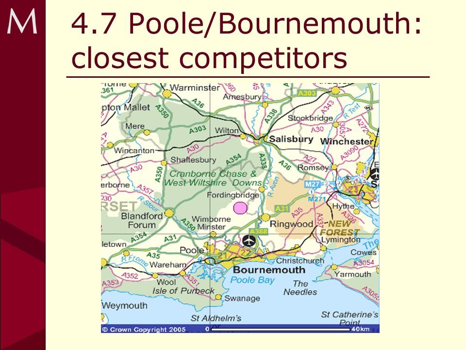 4.7 Poole/Bournemouth: closest competitors