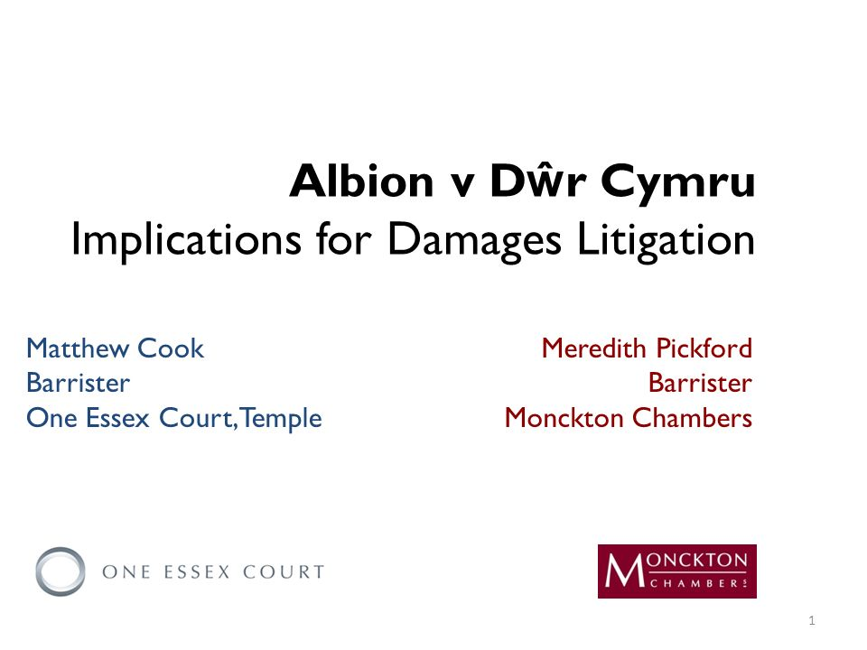 Quantification of damages and evidence Loss of a chance Counterfactual in compensation claims Interest in compensation claims Exemplary damages Overview 2