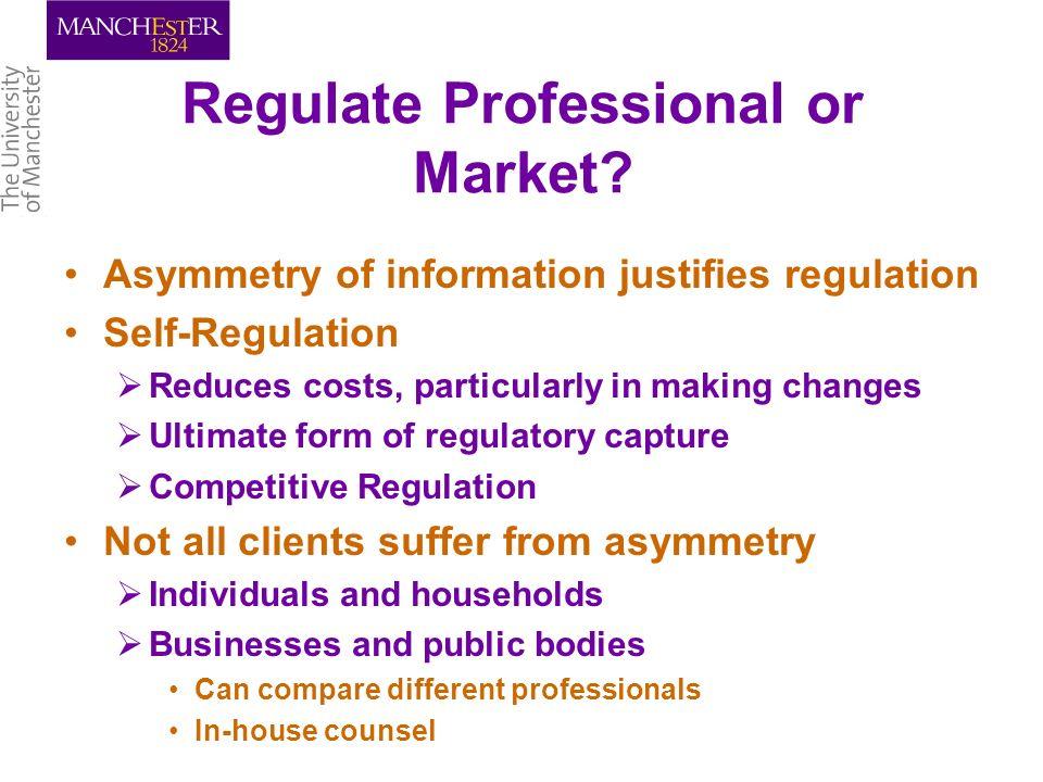 Regulate Professional or Market.