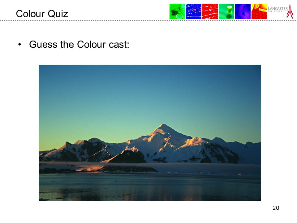 20 Colour Quiz Guess the Colour cast: