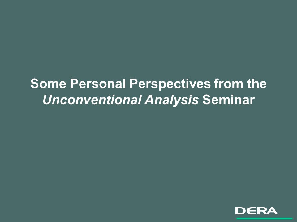 Some Personal Perspectives from the Unconventional Analysis Seminar