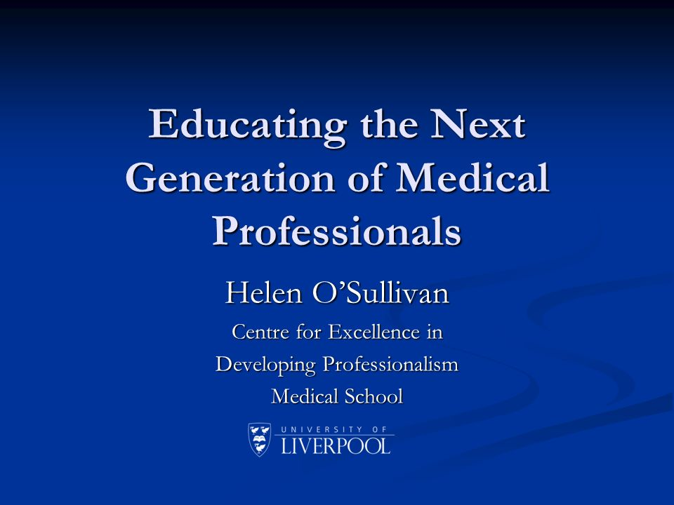 Outline of my talk Introduction: what is medical professionalism.