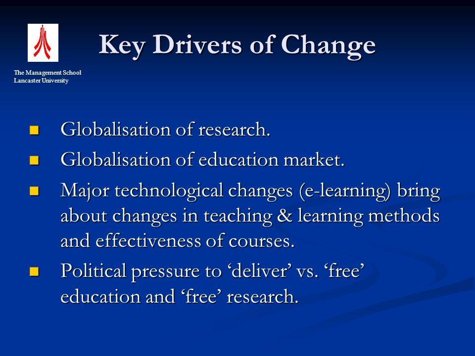 Key Drivers of Change Globalisation of research. Globalisation of research.