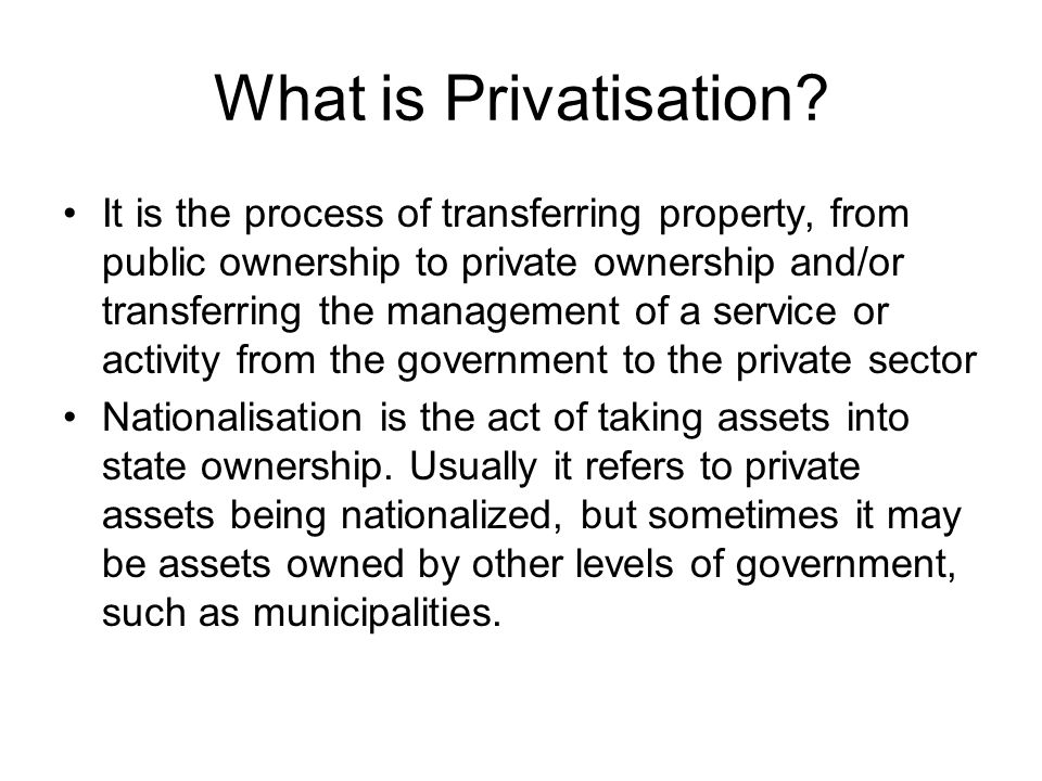 Beginnings of Privatisation The first company to be privatised in France was France Telecom in 1986 It is under François Mitterrand (Président de la République Française 1981-1995) that Nationalisation and Privatisation really took place This lead to a re-nationalisation today