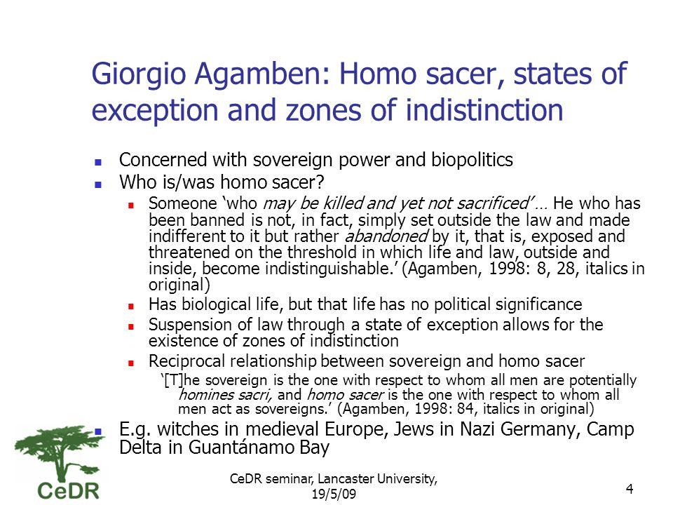 CeDR seminar, Lancaster University, 19/5/09 15 Economic zones of indistinction Fundamental contradictions DDA (accommodation) vs.