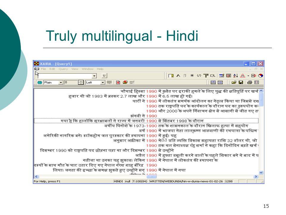 15 Truly multilingual - Hindi