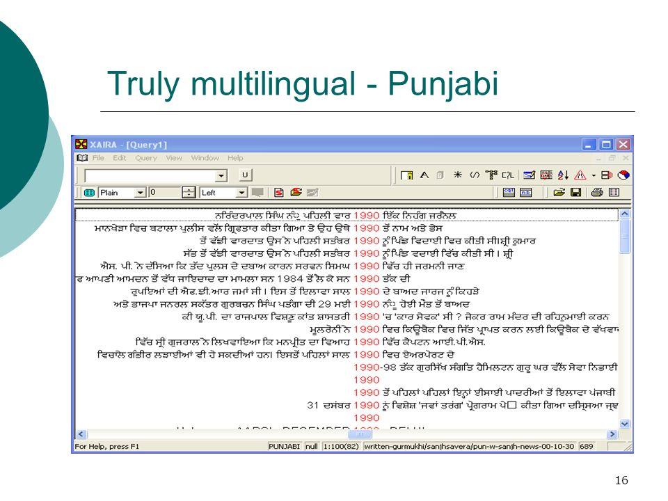 16 Truly multilingual - Punjabi