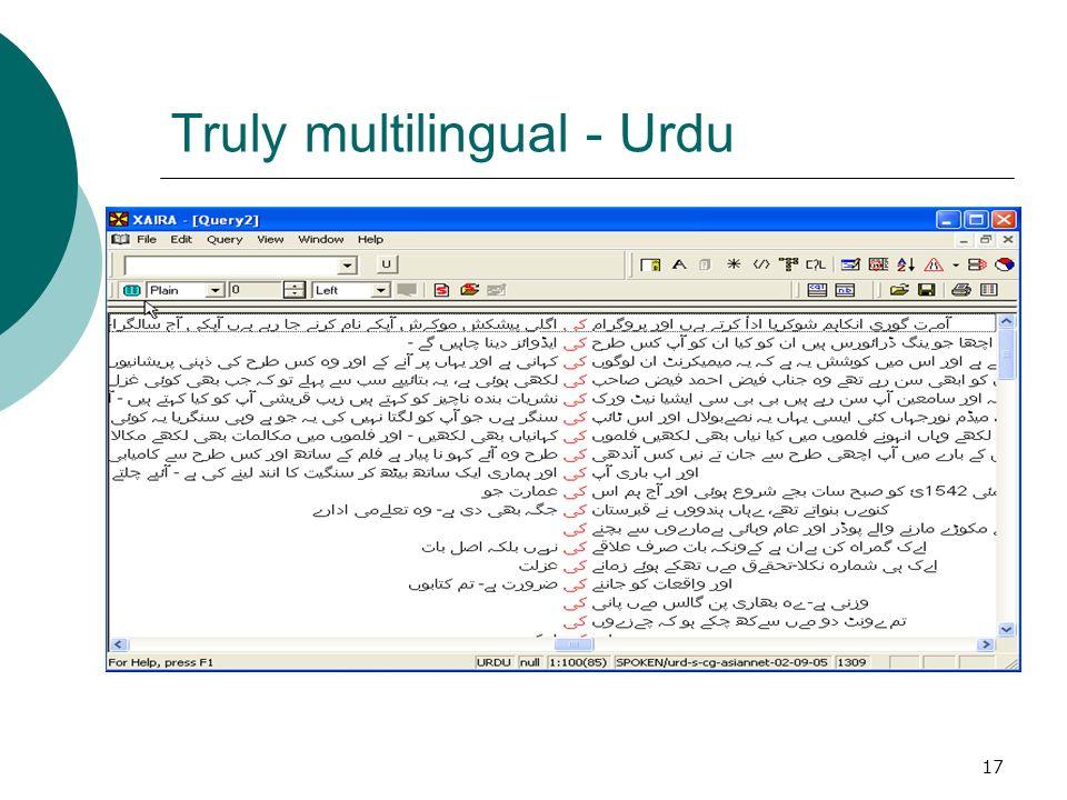 17 Truly multilingual - Urdu