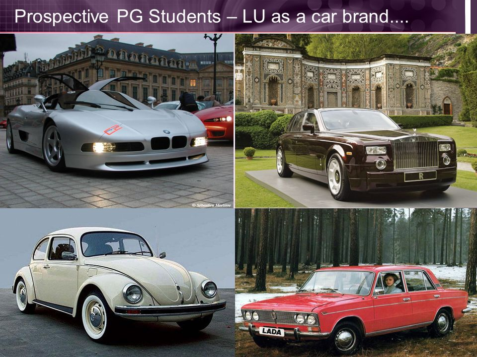 Prospective PG Students – LU as a car brand....
