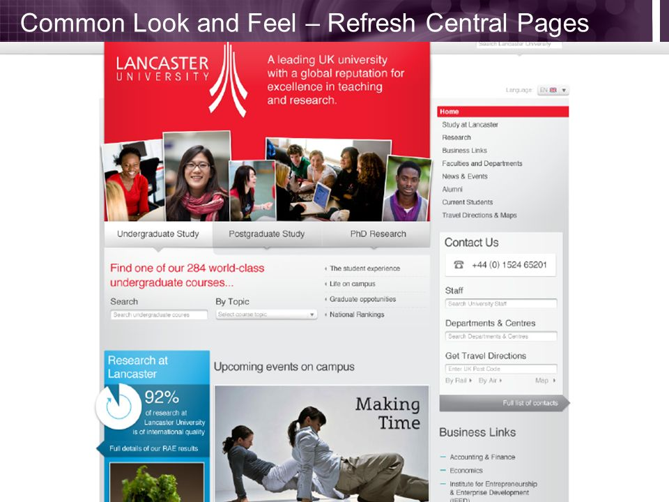 Common Look and Feel – Refresh Central Pages