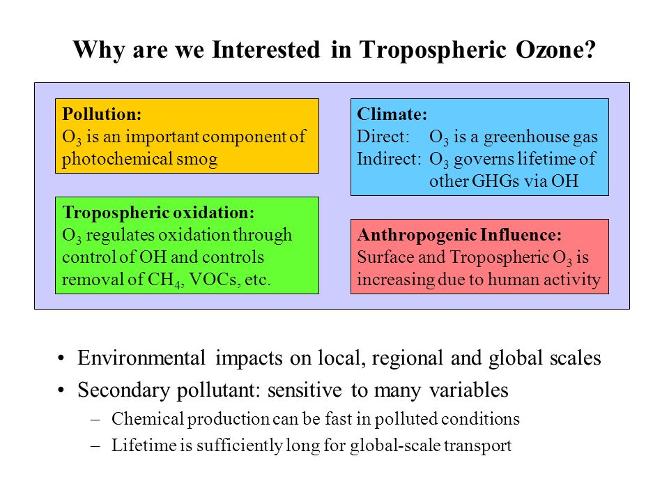Why are we Interested in Tropospheric Ozone.
